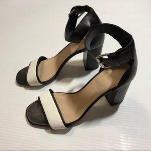 J Crew High Heel Sandals 7.5 Black/white